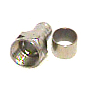 Esaw F56 F fitting for RG6 with separate ring