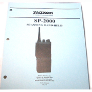 Service Manual for Maxon SP-2000 series