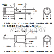 25V Inc. 20/% Capacitance Tolerance Radial Lead NTE Electronics NEV470M25EE Series NEV Aluminum Electrolytic Capacitor 470/µF Capacitance