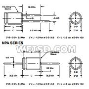 400V Inc. 0.056 /µF Capacitance Radial Lead Non-Inductive NTE Electronics MLR563K400 Series MLR Polyester Non-Polarized Film Capacitor 10/% Tolerance