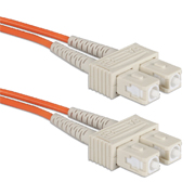 QVS FDSC-2M Multimode fiber optic cable 2 meter SC to SC