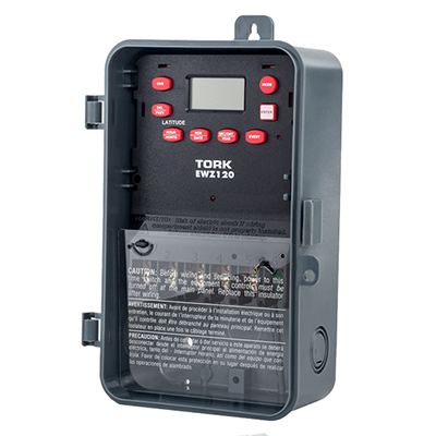 Tork EWZ120 120-277V digital one channel timer - Wholesale Electronics Inc