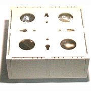 UNICOM MIOR1-RM08-BG dual gang 8 port surface mount keystone box beige